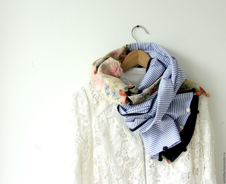 Шарф. Розочки-полосочки. Хлопок-шелк Gucci, Шарфы, Санкт-Петербург,  Фото №1