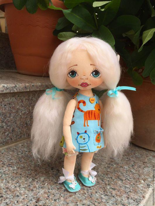 Коллекционные куклы ручной работы. Ярмарка Мастеров - ручная работа. Купить Кити. Текстильная кукла.. Handmade. Бирюзовый, текстильные куклы