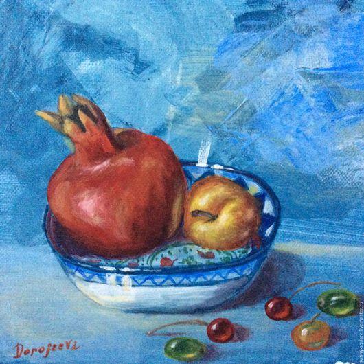 Натюрморт ручной работы. Ярмарка Мастеров - ручная работа. Купить Если б я был султан..(фрукты- акрилом). Handmade.