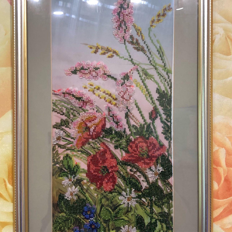 Картина из бисера «Луговые цветы», Картины, Нижний Новгород,  Фото №1