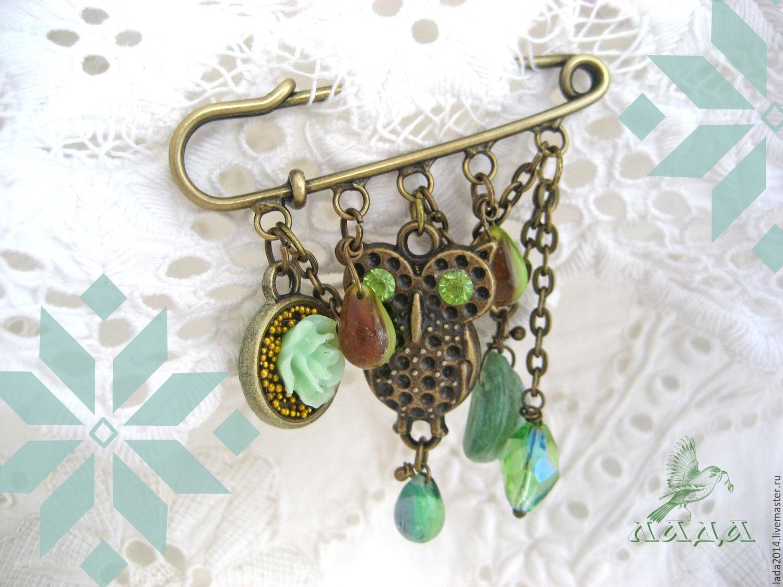 Brooch 'Treasures Owls Makosh', Amulet, Sergiev Posad,  Фото №1