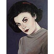 """Картины и панно ручной работы. Ярмарка Мастеров - ручная работа Одри из серии """"Covergirl"""". Handmade."""