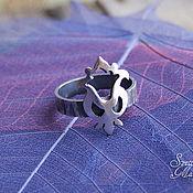 """Украшения ручной работы. Ярмарка Мастеров - ручная работа Кольцо из серебра """"Тюльпан"""", кольцо с цветком. Handmade."""