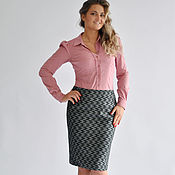 Одежда handmade. Livemaster - original item Pencil skirt with geometric pattern. Handmade.