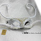 Одежда ручной работы. Ярмарка Мастеров - ручная работа Карнавальная маска Снежный Небарс. Handmade.