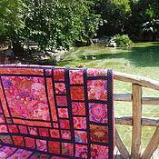 Для дома и интерьера ручной работы. Ярмарка Мастеров - ручная работа Quilt Лоскутное покрывало Цветы и фрукты. Handmade.