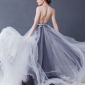 """Свадебный салон ручной работы. Ярмарка Мастеров - ручная работа Cвадебное платье """"Blue grey"""". Handmade."""
