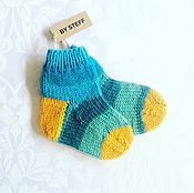 Работы для детей, handmade. Livemaster - original item Knitted socks for baby. Handmade.