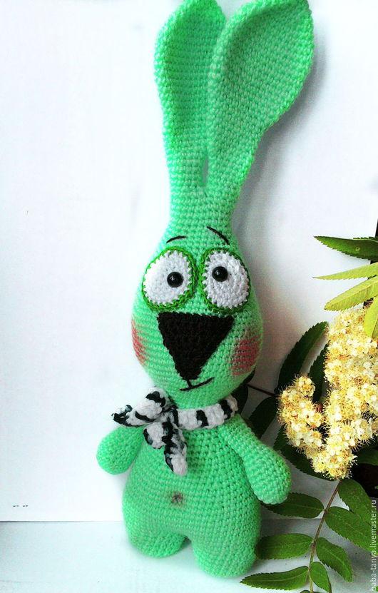 Игрушки животные, ручной работы. Ярмарка Мастеров - ручная работа. Купить Кролик в шарфике. Handmade. Бледно-розовый, кролик