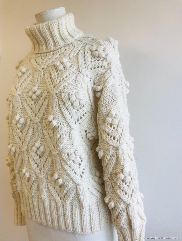 knitted milk sweater, Sweaters, Zvenigorod,  Фото №1