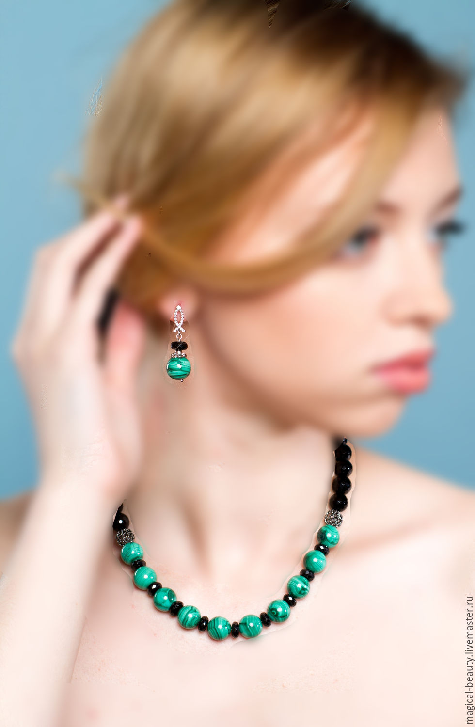 Set of malachite 'Ural tales', Jewelry Sets, Moscow,  Фото №1