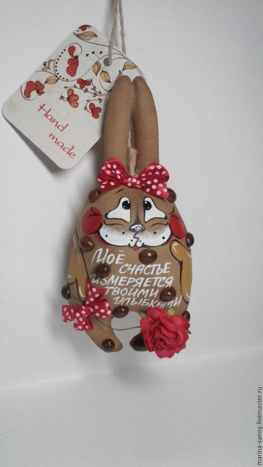 Ароматизированные куклы ручной работы. Ярмарка Мастеров - ручная работа. Купить Кофейно-ванильная ЗАЯ (О счастье и улыбке). Handmade.