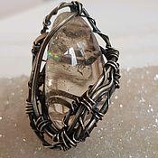 Украшения handmade. Livemaster - original item Ring with smoky quartz. Handmade.