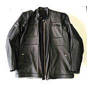 Одежда handmade. Livemaster - original item Custom Leather Motor Man Jacket. Handmade.