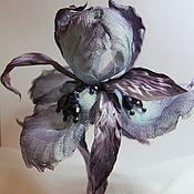 Украшения handmade. Livemaster - original item Brooch of silk dancing iris. Handmade.