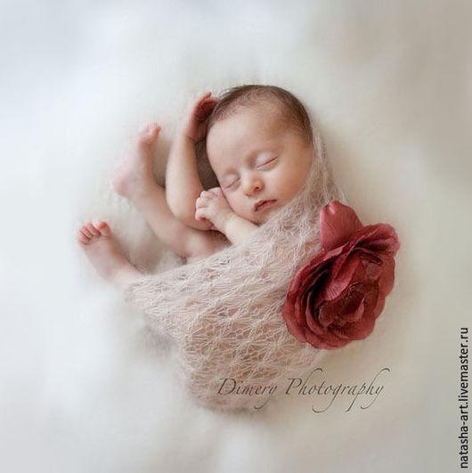 Для новорожденных, ручной работы. Ярмарка Мастеров - ручная работа. Купить Светлая снежность - аксессуары для фотосессии новорожденных. Handmade. Белый