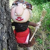"""Мягкие игрушки ручной работы. Ярмарка Мастеров - ручная работа Кукла""""Баба-Яга"""" текстильная. Handmade."""