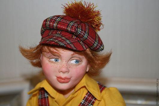 Коллекционные куклы ручной работы. Ярмарка Мастеров - ручная работа. Купить Рыжий. Handmade. Интерьерная кукла, интеръерный велосипед, рыжик