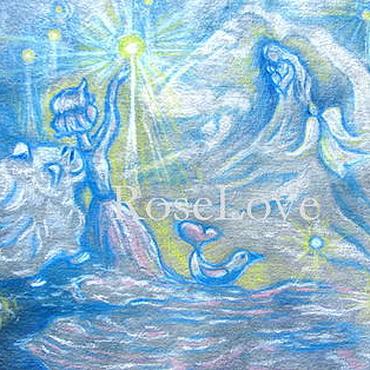 Картины и панно ручной работы. Ярмарка Мастеров - ручная работа Картина для детской «Ловить звезды с небес.». Handmade.