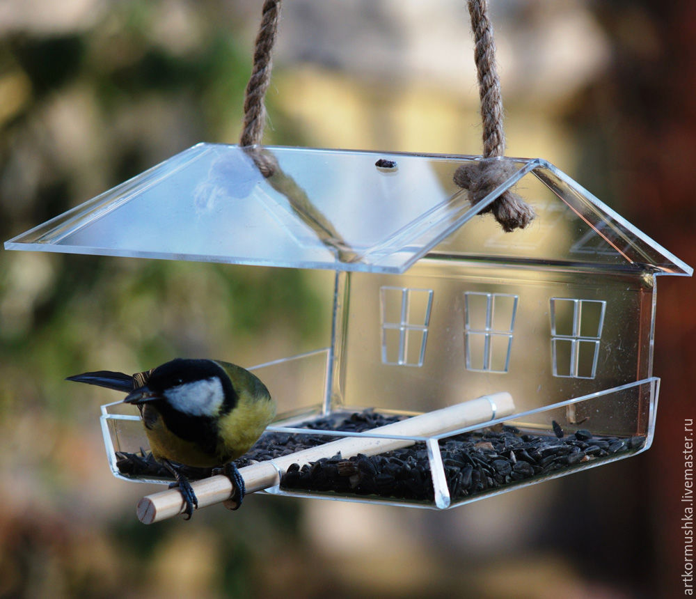 Feeder for the birds 'crystal Chalet', Interior elements, Moscow,  Фото №1