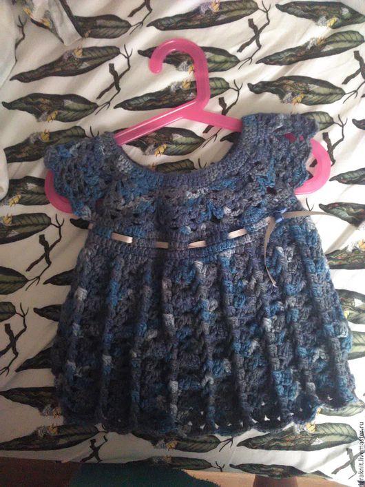 Одежда для девочек, ручной работы. Ярмарка Мастеров - ручная работа. Купить Вязаное платье для девочки. Handmade. Комбинированный, платье