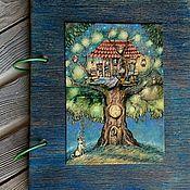 "Канцелярские товары handmade. Livemaster - original item Notepad A5 ""Tree house"". Handmade."