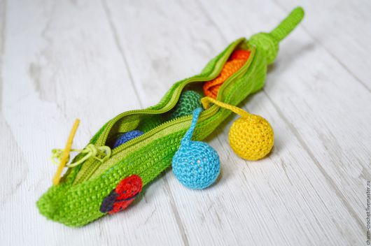 """Развивающие игрушки ручной работы. Ярмарка Мастеров - ручная работа. Купить Развивающая игрушка  """"Горох"""" мелкая моторика развитие цветовосприятия. Handmade."""