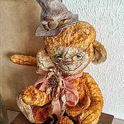 """Куклы и игрушки ручной работы. Ярмарка Мастеров - ручная работа Тедди обезьянка """" Оранжевое настроение"""". Handmade."""