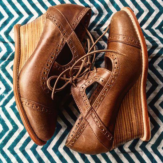 Обувь ручной работы. Ярмарка Мастеров - ручная работа. Купить Stockholm, необыкновенные, винтажные оксфорды.. Handmade. Туфли, обувь, загар
