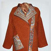 Пальто - косуха,  пальто оверсайз, пальто - кокон, р-р 54-64