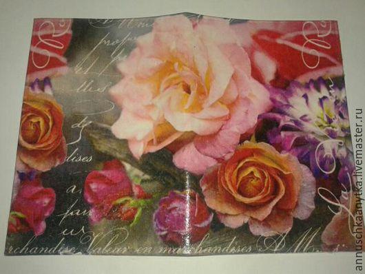 """Обложки ручной работы. Ярмарка Мастеров - ручная работа. Купить Обложка на паспорт  """"Букет из роз"""". Handmade. Комбинированный, букет"""