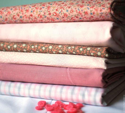 Шитье ручной работы. Ярмарка Мастеров - ручная работа. Купить Набор тканей  Нежно -Розовый. Handmade. Ткань для рукоделия, ткань