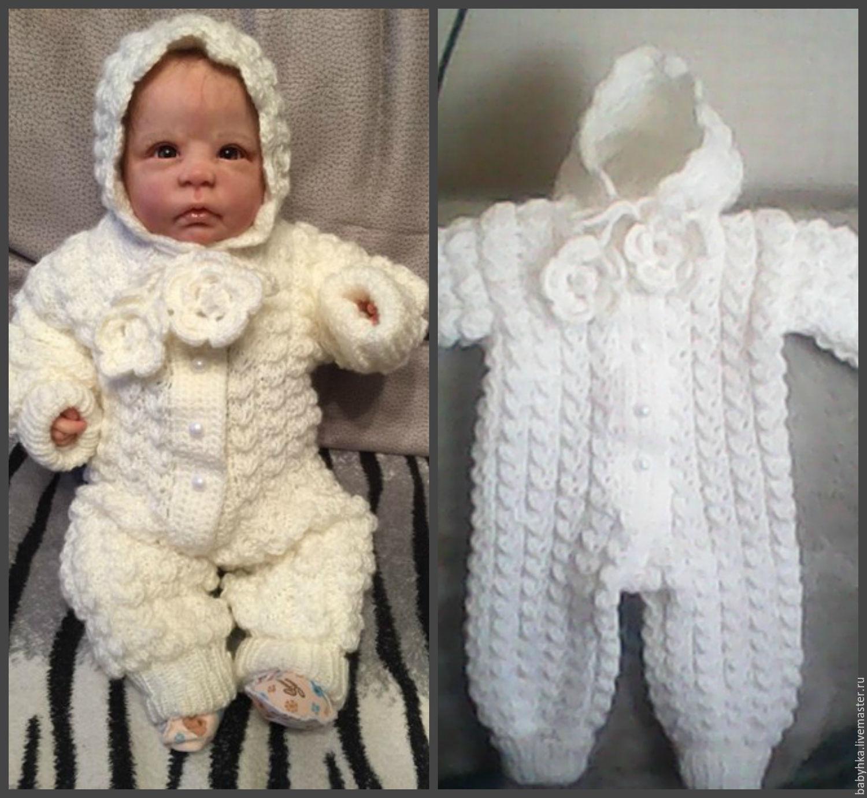 Как связать капюшон к комбинезону для новорожденного спицами