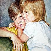Картины и панно handmade. Livemaster - original item Portrait Watercolor.. Handmade.