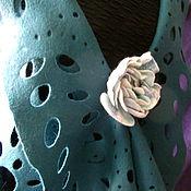 Одежда ручной работы. Ярмарка Мастеров - ручная работа Ажурный валяный жилет Цветок папоротника. Handmade.