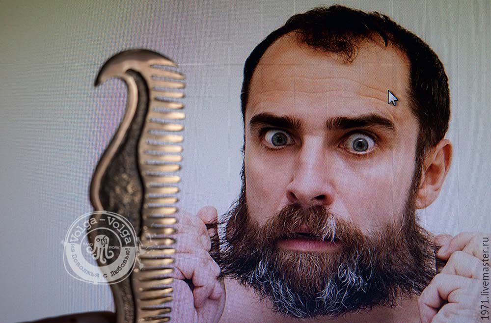 Comb for beard and moustache, Key chain, Tolyatti,  Фото №1