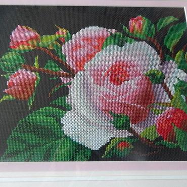 Картины и панно ручной работы. Ярмарка Мастеров - ручная работа Розовые розы. Handmade.