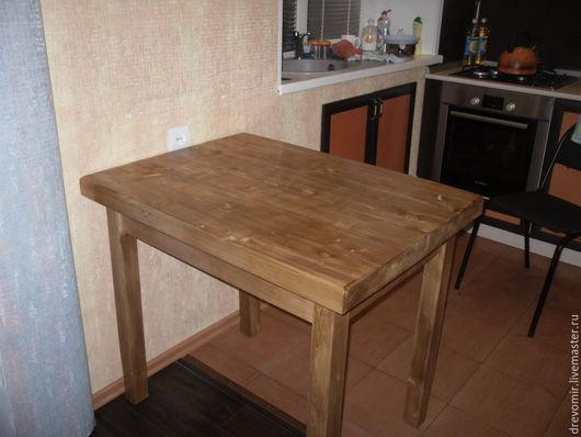 Мебель ручной работы. Ярмарка Мастеров - ручная работа. Купить Стол из массива сосны.. Handmade. Белый, кухонный стол