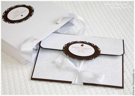 Подарочная упаковка ручной работы. Ярмарка Мастеров - ручная работа. Купить Подарочный сертификат в конверте. Handmade. Сертификат, для фотографа, конверт