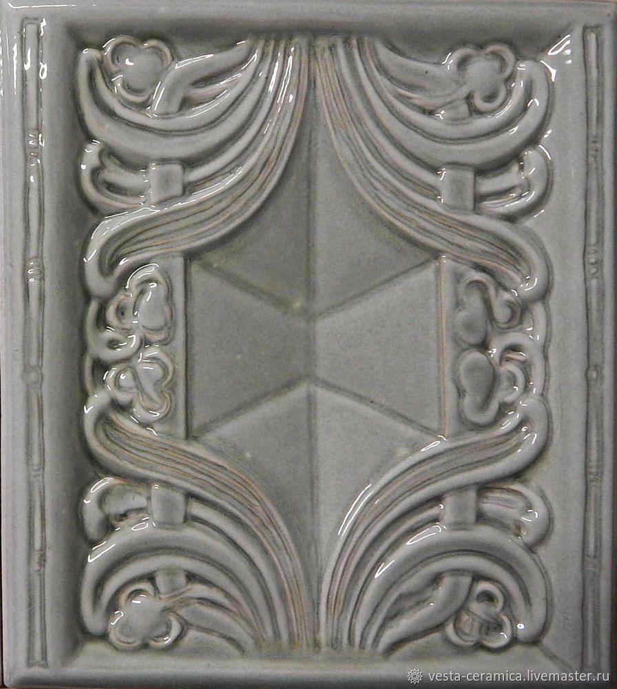 `Meissen` relief, size 205 x 230 mm. Majolica glaze