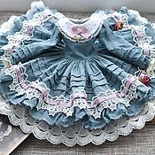 Одежда для кукол ручной работы. Ярмарка Мастеров - ручная работа Платье для куклы БЖД Минифи, BJD Minifee. Handmade.