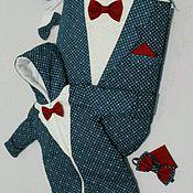 """Работы для детей, ручной работы. Ярмарка Мастеров - ручная работа Комплект на выписку """"Маленький джентльмен"""". Handmade."""