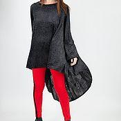 Одежда handmade. Livemaster - original item Velvet, asymmetrical, stylish tunic - TU0913VE. Handmade.