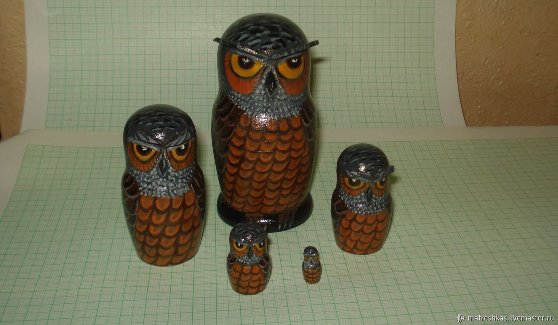 Matryochka Dolls handmade. Livemaster - handmade. Buy Matryoshka Owl.Owl, manual work of authorship