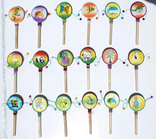 Ударные инструменты ручной работы. Ярмарка Мастеров - ручная работа. Купить Ручные барабаны с детскими рисунками, персонажами мультфильмов. Handmade.