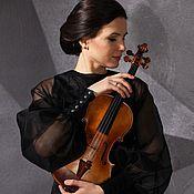 Одежда ручной работы. Ярмарка Мастеров - ручная работа Концертная блузка из шелковой органзы. Handmade.