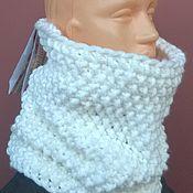 Аксессуары handmade. Livemaster - original item Snood unisex WHITE. Handmade.