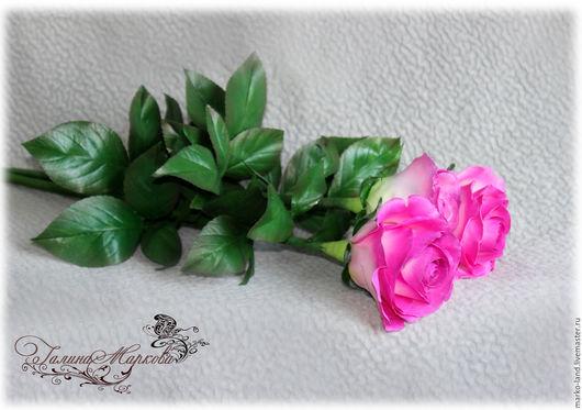 """Интерьерные композиции ручной работы. Ярмарка Мастеров - ручная работа. Купить Мастер класс роза """"Carousel"""" из фоамирана. Handmade."""