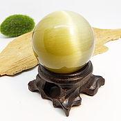 Фен-шуй и эзотерика handmade. Livemaster - original item 40 mm glass ball with cat`s eye effect. Handmade.