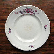 """Винтаж ручной работы. Ярмарка Мастеров - ручная работа Две пары винтажных тарелок завода """"Буди"""" (Украина). Handmade."""